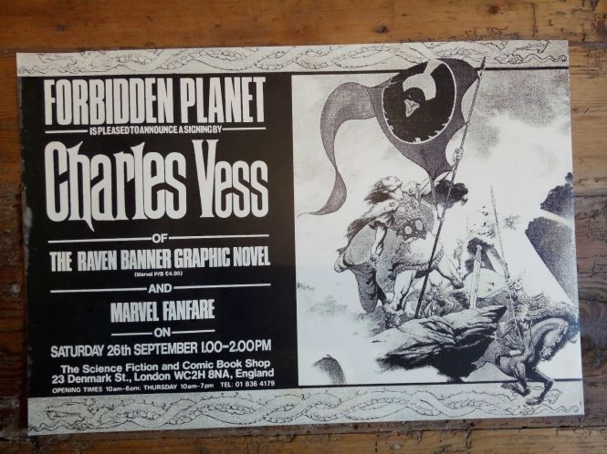 Charles Vess at Forbidden Planet, London 1987
