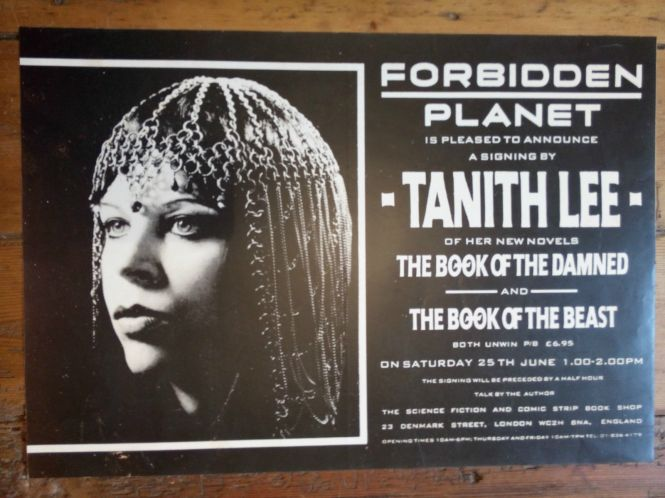Tanith Lee at Forbidden Planet, London 1988