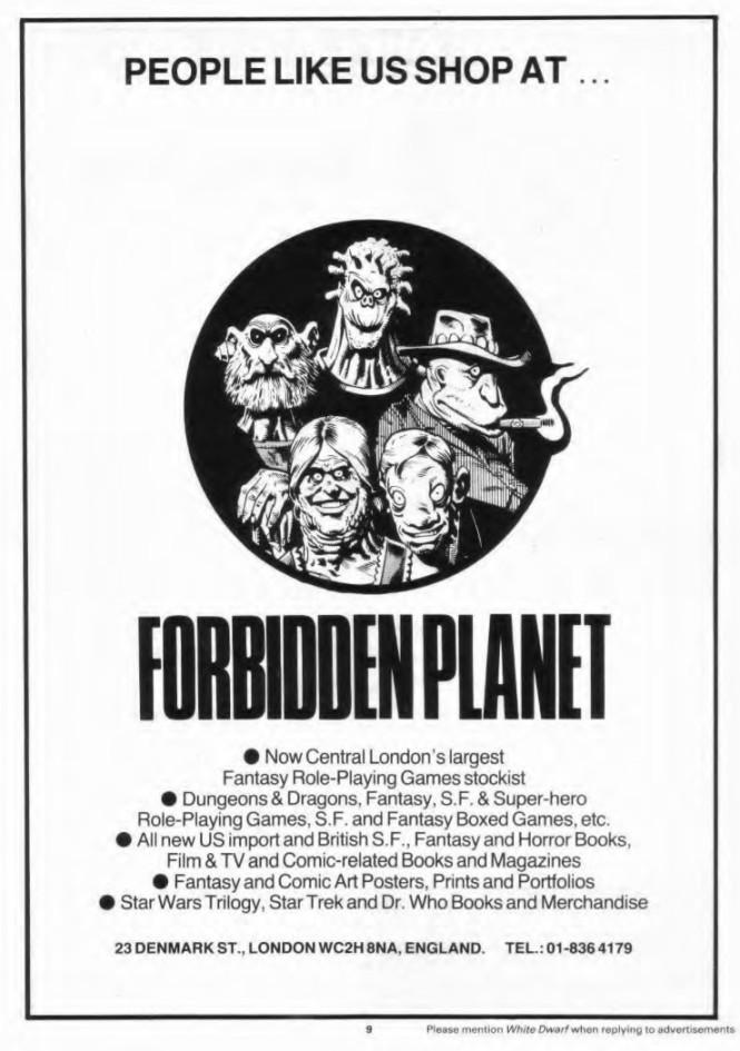 Forbidden Planet WD 52 April 1984