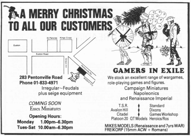Gamers In Exile WD74 December 1985