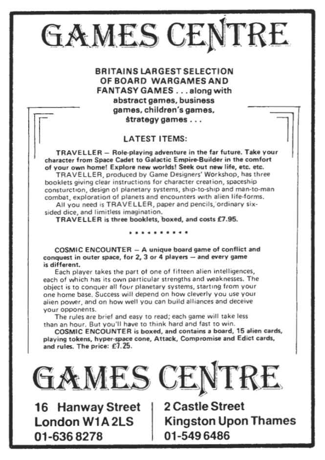 Games Centre WD6 April May 1978