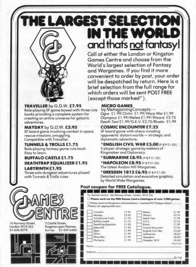 Games Centre WD9 Oct Nov 1978