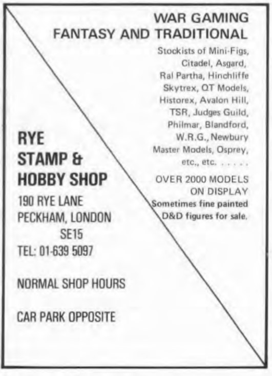 Rye Stamp & Hobby Shop WD24 April May 1981