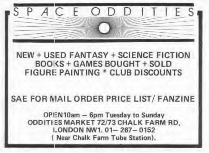 Space Oddities WD71 Nov 1985