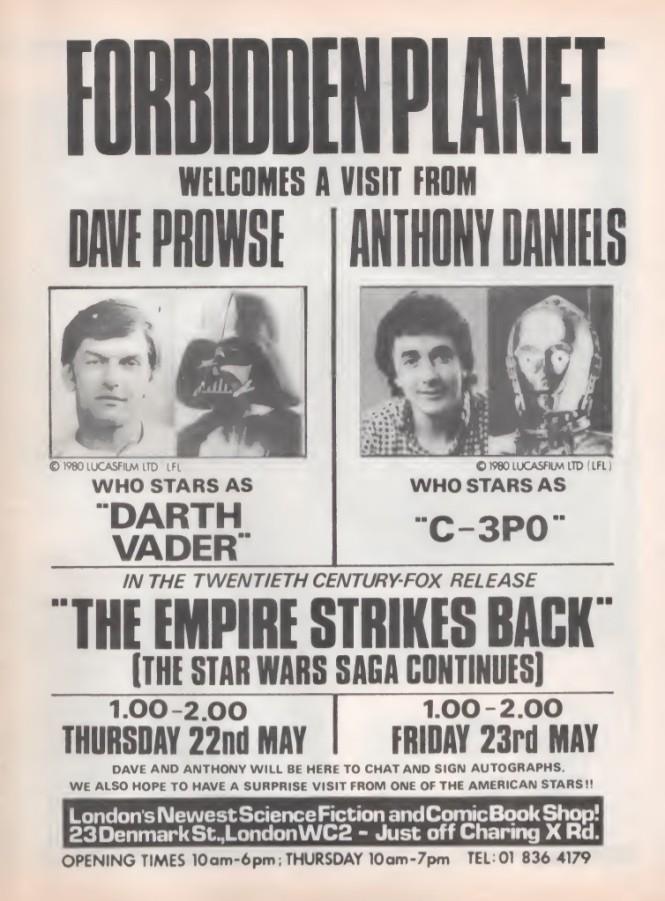 06 Forbidden Planet Star Wars SB22 1980