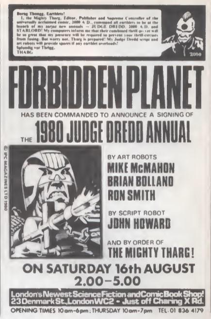 08 Forbidden Planet Judge Dredd SB25 1980
