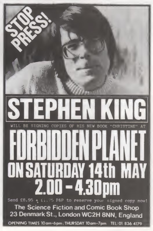 09 Forbidden Planet Stephen King SB58 1983