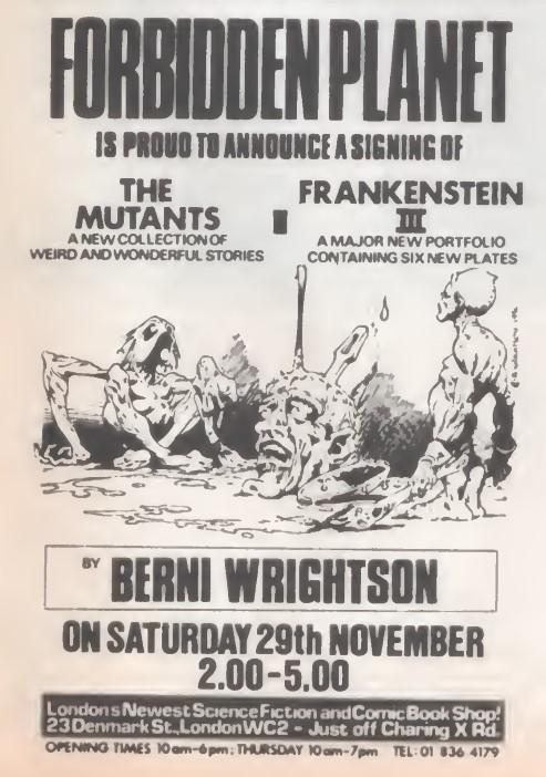 10 Forbidden Planet Mutants SB28 1980