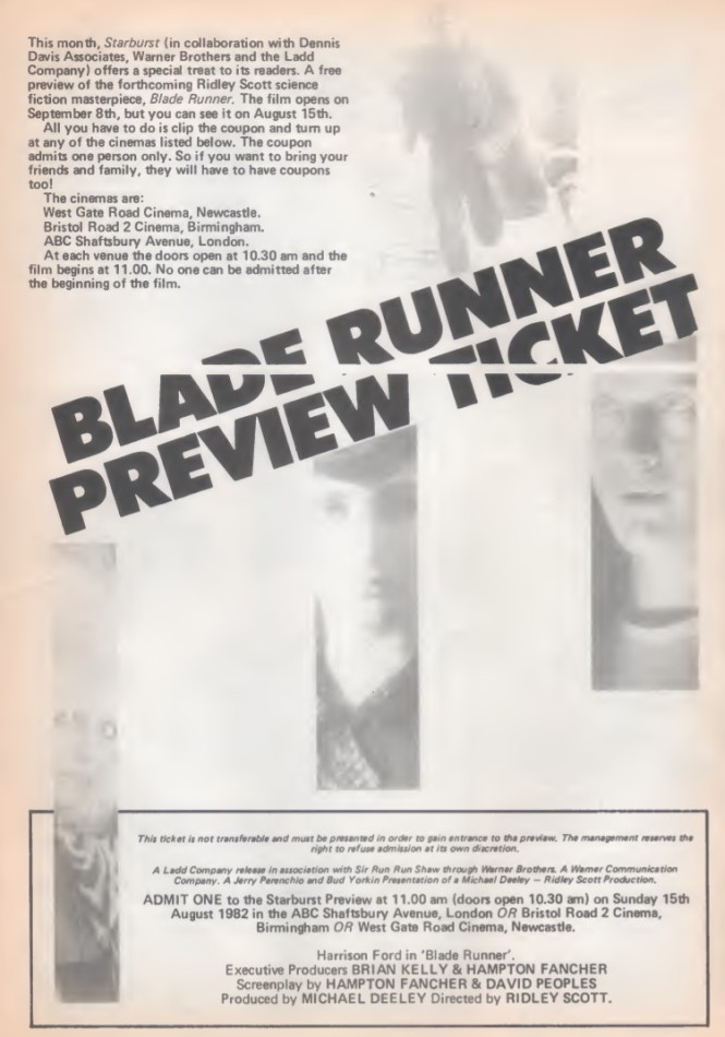 Blade Runner Preview SB49 1982