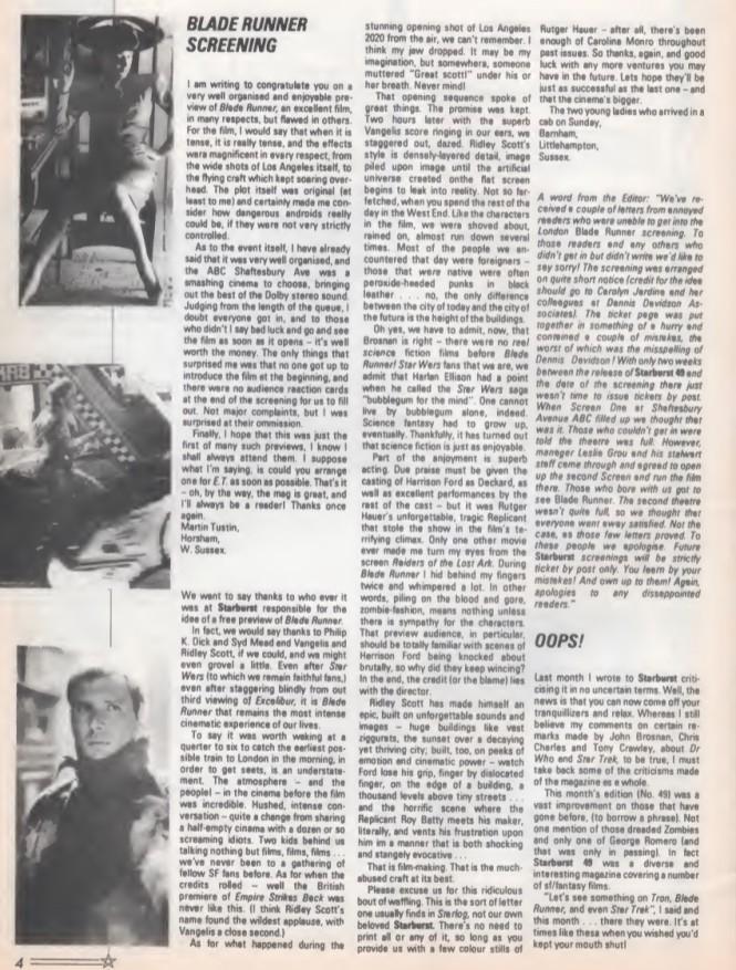 Blade Runner Preview SB51 1982
