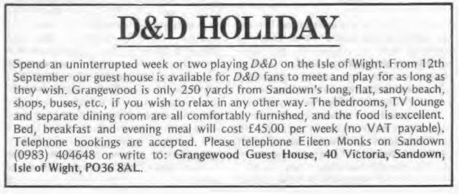 D&D Holiday WD25 June July 1981