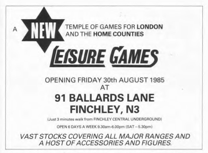 Leisure Games WD69 Sep 1985