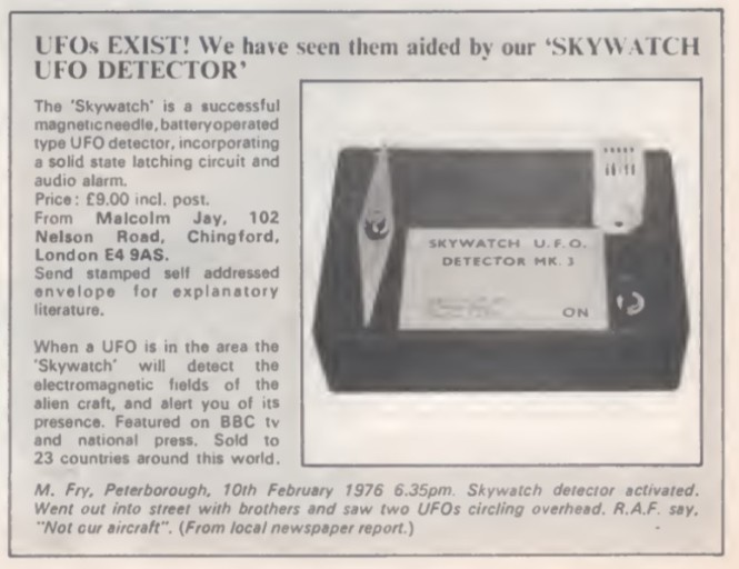 UFO Detector WB2 1978